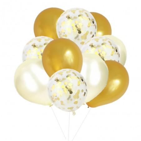 Pack Decoración Cumpleaños Blanco Dorado  Pack de Cotillón Productos