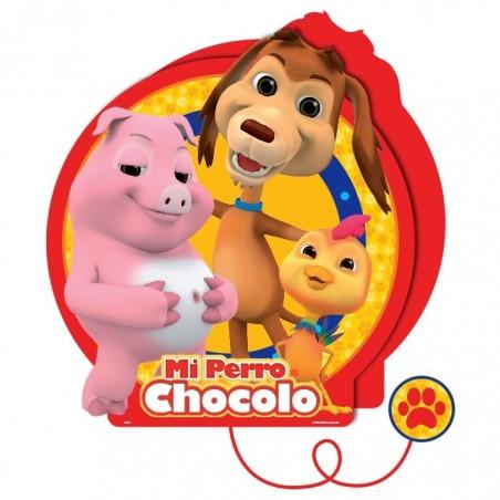 Pack Cumpleaños Perro Chocolo x 12  Cotillón Perro Chocolo
