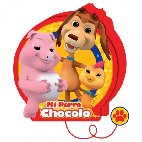 Pack Cumpleaños Perro Chocolo x 30  Cotillón Perro Chocolo