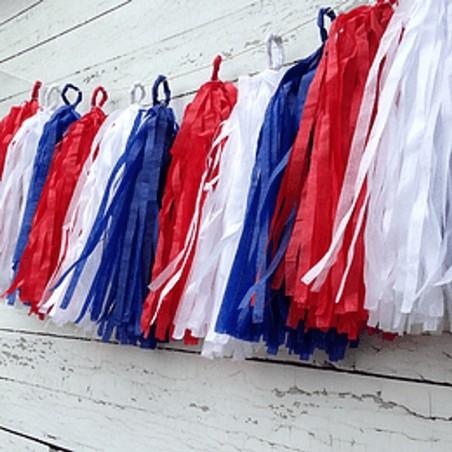 Guirnalda Tassel Tricolor Chile  Guirnaldas y Colgantes