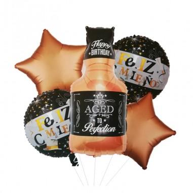 Set Globos Metálicos Whiskey  Globos Metálicos