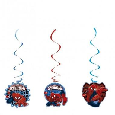 Deco Colgante Cumpleaños Spiderman  Cotillón Spidermann