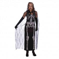 Disfraz Esqueleto Vestido con Velo  Disfraces Adultos
