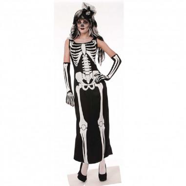 Disfraz Esqueleto Vestido Mujer  Disfraces Adultos