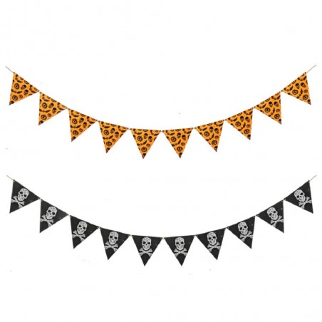 Guirnalda Halloween 10 Banderines  Decoración Halloween
