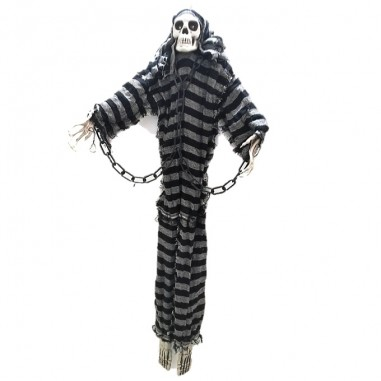 Fantasma Esqueleto Rayas Luz y Sonido 1mt  Decoración Halloween