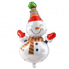 Globo Metálico Snowman  Decoración y Cotillón Navidad