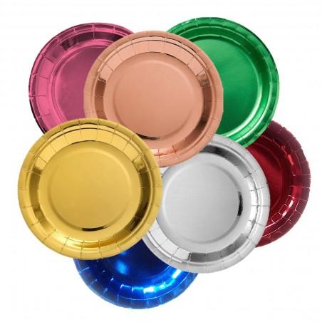 Platos Metalizado x 6 Colores  Línea Metalizado