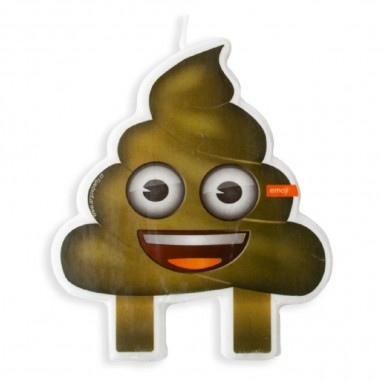 Vela Emoji Poo  Cotillón Emoji