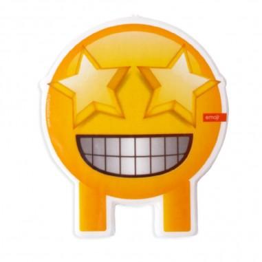 Vela Emoji Exitoso Estrellas  Cotillón Emoji