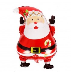 Globo Metálico Viejito Pascuero Manitos Navidad  Decoración y Cotillón Navidad