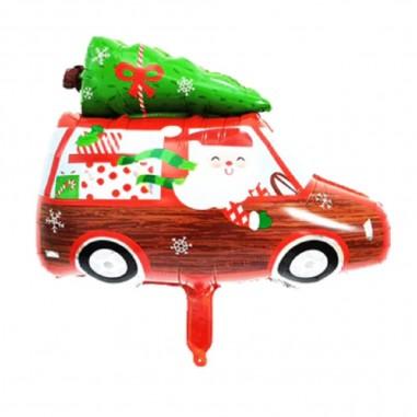 Globo Metálico Auto de Navidad  Decoración y Cotillón Navidad