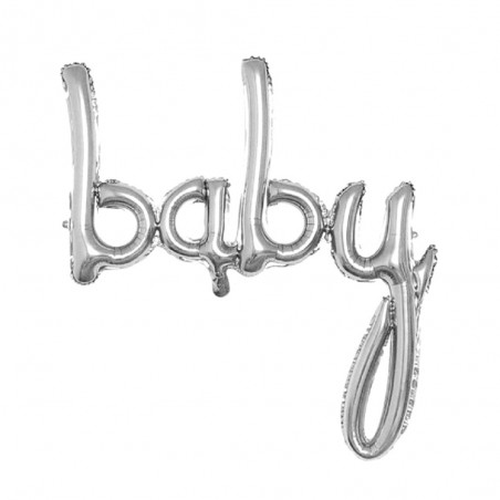 Globo Gigante Letras Baby 90 cms Niño y Niña  Baby Shower y más