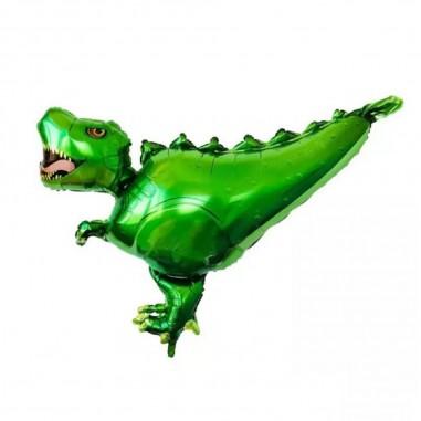 Globo Metálico Dinosaurio Verde  Cotillon Dinosaurio