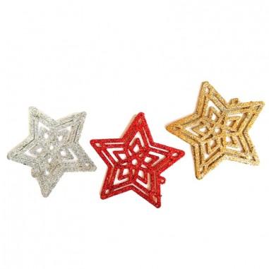 Decoración Estrellas de Navidad x 3  Decoración y Cotillón Navidad