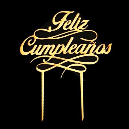 Decoración Topper Torta Feliz Cumpleaños  Velas