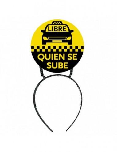 Cintillo Mensaje Taxi  Accesorios Cotillón