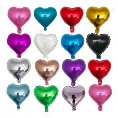 Globo Metálico Corazón Colores  Cotillón Día de los Enamorados