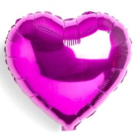 Globo Metálico Corazón Colores  Cotillón Día de la Mamá y Enamorados
