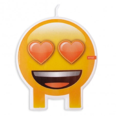 Vela Emoji Enamorado  Cotillón Emoji
