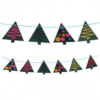 Guirnalda Arbolitos de Navidad  Decoración y Cotillón Navidad