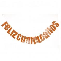 Guirnalda Letras Feliz Cumpleaños Rose Gold Cotillón Activarte Guirnaldas y Colgantes