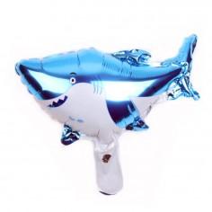 Globo Metálico Tiburón  Cotillón Sirena