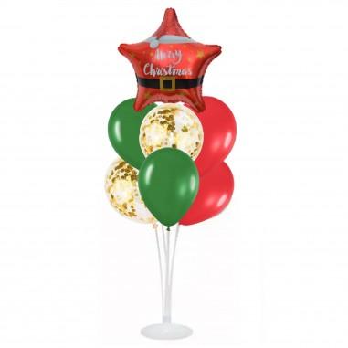 Set 7 Globos con Base Navidad  Globos Diseños