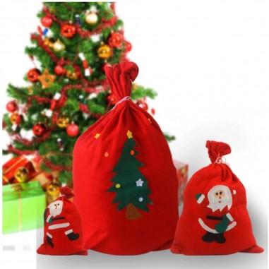 Bolsa Viejito Pascuero Navidad  Decoración y Cotillón Navidad