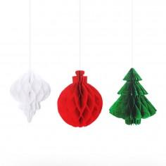 Adornos Navidad x 3  Decoración y Cotillón Navidad