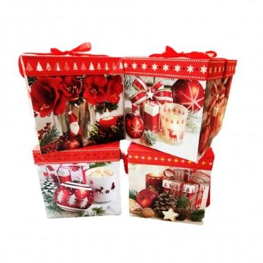 Caja de Regalo de Navidad 25 cm  Decoración y Cotillón Navidad